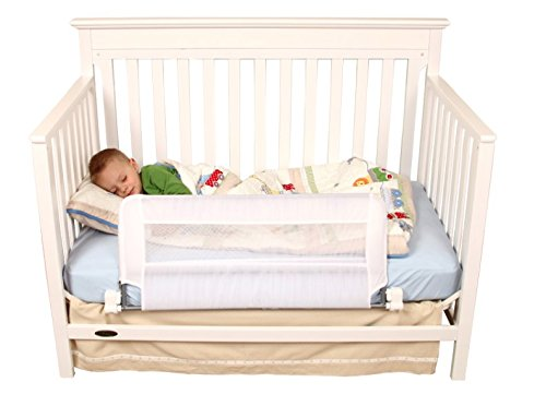 Regalo Swing Down Crib Rail, White - 1
