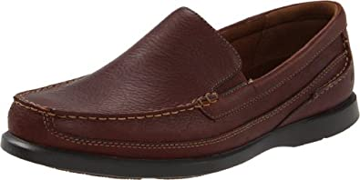 Dunham by New Balance Men's Boardwalk Slip-On,Brown,10 2E US