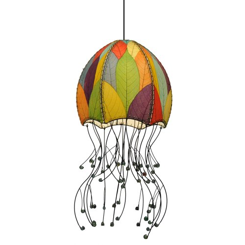Eangee Jellyfish Hanging Lamp, 35-Inch Tall, Multicolor