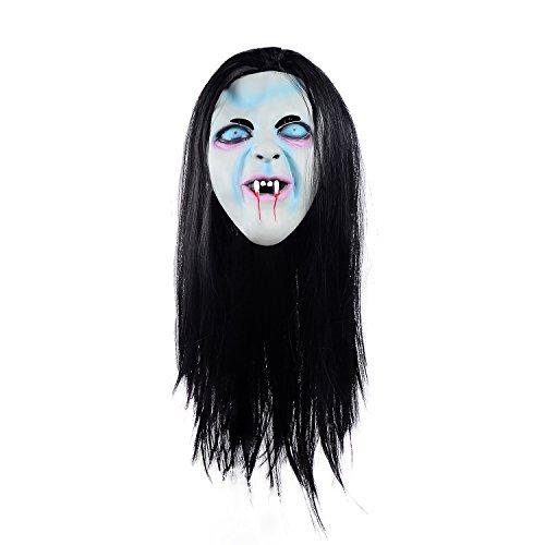 Ohuhu® Halloween Horror Maske Sadako Halloween Cosplay Kostüm Maske Halloween Maske Horror Geistermaske --Kostüm Weihnachtsdekoration Cosplay Partei Kostüm