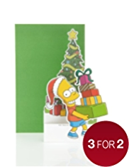 Son Bart Simpson Christmas Card