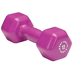 Body Solid Tools Vinyl Dumbbells 12Lb - Pair