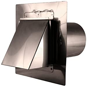 4 stainless steel stucco mount hooded dryer