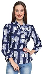 Tapyti Casual Full Sleeve Printed Women's Top (Large)