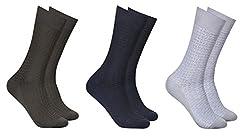 Balenzia Men's Mercerized Socks (Pack Of 3) (Jagmini69_Multi)