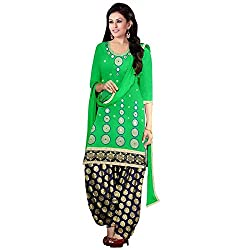 Expert Women's New Fashion Designer Fancy Wear Todays Low Price Best Special Offer All Type Of Modern Green Embroidered Glass Work Patiyala Salwar Suit