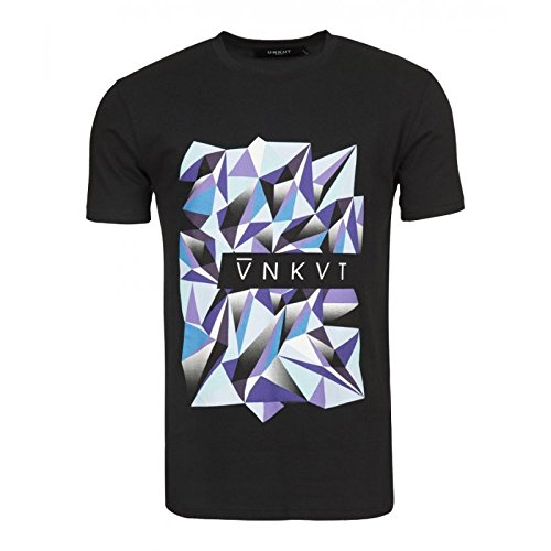Ünkut - Maglietta sportiva - Collo a U  -  uomo nero Small