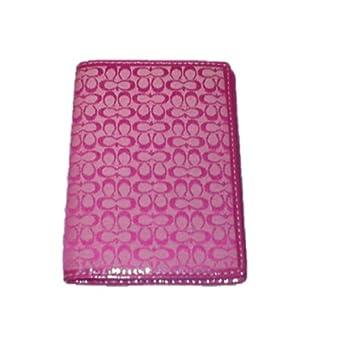 Women's Coach Mini Signature Passport Wallet Punch Pink