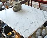 【B級品】イタリアの大理石 気持ちがいいペットマット(ペットベッド)!小さなスリキズ等がある為お買い得です♪ 40cm×40cm ビアンコカララ 表面磨き仕上げ