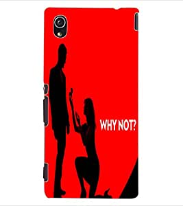 ColourCraft Funny Image Design Back Case Cover for SONY XPERIA M4 AQUA