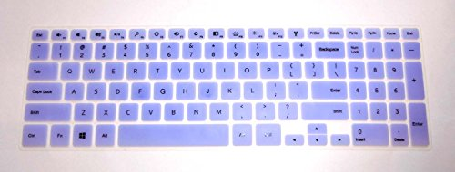 """Bingobuy® Semi-Purple Backlit Ultra Thin High Quality Silicone Keyboard Protector Skin Cover For 15.6'' New Dell Inspiron 15 7000 Series 15-7537(If Your """"Enter"""" Key Looks Like """"7"""", Our Skin Can'T Fit) With Bingobuy Card Case For Credit, Bank, Id Card"""