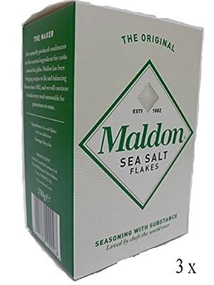 3 x Maldon Sea Salt reine und natürliche Meersalz Flocken 250g - 3 x 250g von Maldon Sea Salt - Gewürze Shop