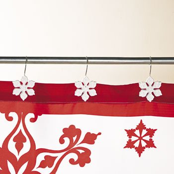 Holiday Snowflake Shower Hooks