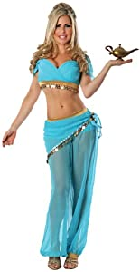 Delicious Women's Arabian Nights Sexy Costume, Blue, X-Small/Small