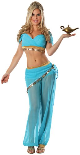 Delicious Women'S Arabian Nights Sexy Costume, Blue, Small/Medium front-86164
