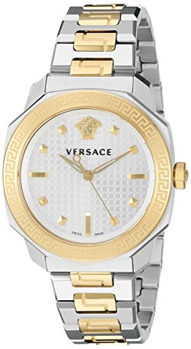 Versace-Womens-VQD050015-Dylos-Analog-Display-Swiss-Quartz-Two-Tone-Watch