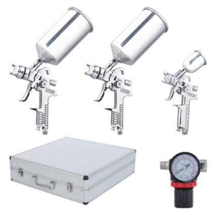 professional-7-piece-stainless-steel-hvlp-spray-gun-kit-auto-paint-gravity-feed-3-sprayer-sliver-pri