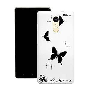 Customizable Hamee Original Designer Cover Thin Fit Crystal Clear Plastic Hard Back Case for Motorola / Moto G Plus 4th Gen / Moto G4 Plus / Moto G 4 + (solid butterflies)