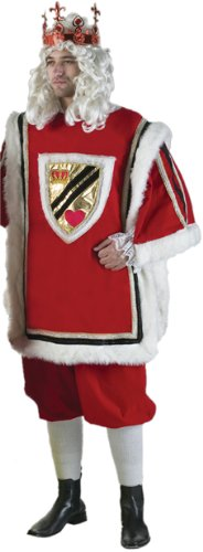 Adult Men's Deluxe King of Hearts Halloween Costume
