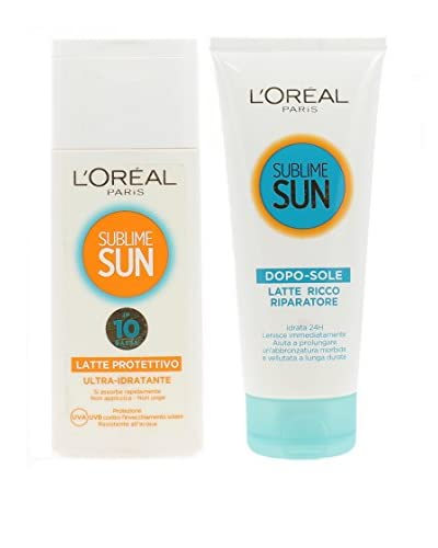L'Oréal Leche Solar Protectora SPF 10 200 ml + Leche After Sun Reparadora 200 ml
