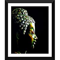 Tallenge - Oil Painting - Buddha The Enlightened One - Ready To Hang Framed A3 Size Poster (12x17 Inches)
