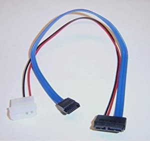Micro SATA Cables - 13 Pin Slimline SATA 12 Inch Cable Power and DATA