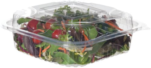 "Eco-Products Ep-Lc81 8"" X 8"" X 3"" Plastic Clear Clamshell (Case Of 160)"