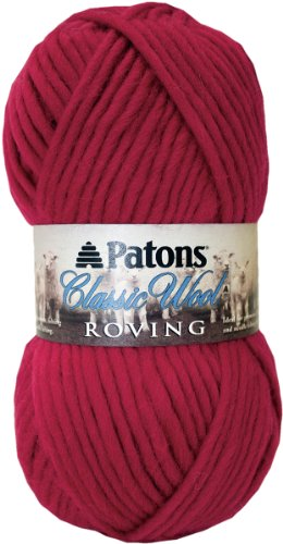 Patons Classic Wool Roving Yarn, Cherry