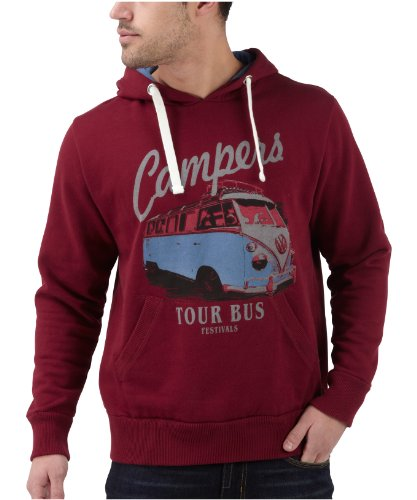 Joe Browns Men's Camper Hoody Dark Red (42)