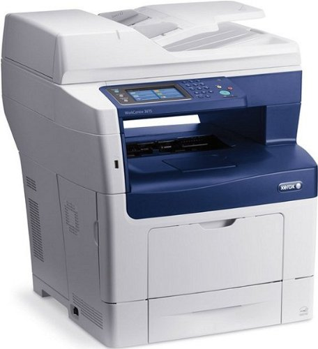 Xerox 3615V DN WorkCentre Stampante 4-in-1, Adobe PS3, Duplex, Network, Grigio/Blu