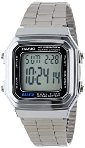 Casio Men's A178WA-1A Illuminator Bracelet Digital Watch