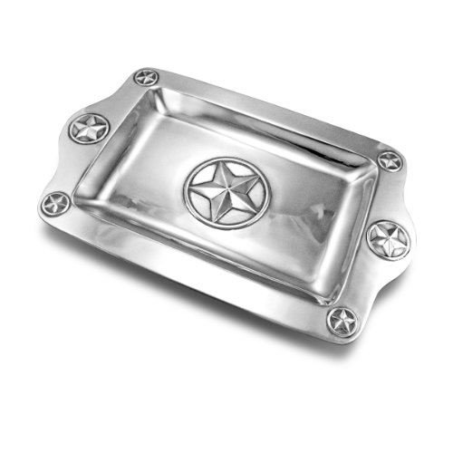 Wilton Armetale Texas Lone Star Serving Tray, Rectangular 17-Inch By 10-3/4-Inch