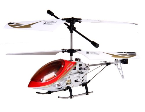PF 3-Channel RC Helicopter with Gyroscope (Red)