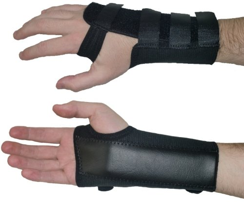 Actesso Black Elasticated Wrist Support Splint for Carpal Tunnel, Sprains or Strains. Medically Approved