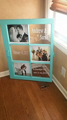 Amazon.com: wedding frame - wedding window - old wood windows - wood ...