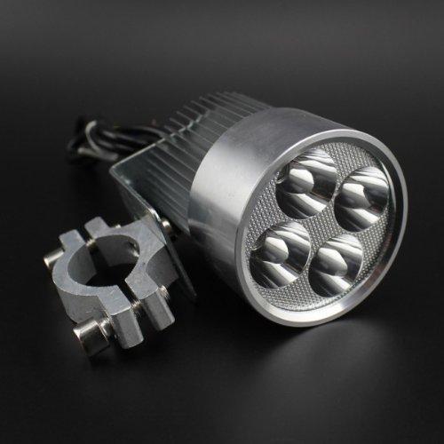 12V-85V Universal Moto E-bike LED de 20W à jour de lampe de phare d' argent