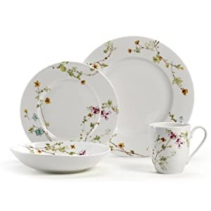 Mikasa Sketch Floral 4-Piece Place Setting