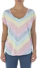 Rip Curl Rainbow Stripe T-Shirt manches courtes Femme Very Berry FR : XS (Taille Fabricant : XS)