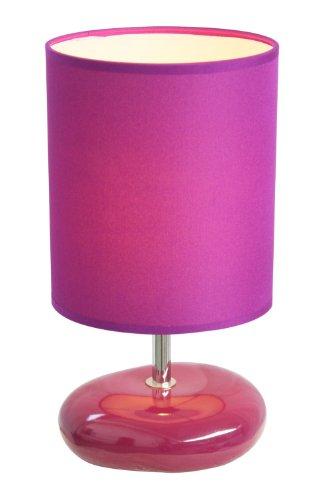 Simple Designs Lt2005-Prp Stonies Small Stone Look Table Lamp, Purple