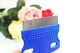 Tear Stain Remover Comb for Dogs - Extra Fine Tooth Rake Gently & Effectively Gets Rid of Crust, Mucus, and Gunk Around Your Shih Tsu or Maltese (Blue)