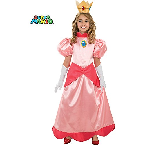 Deluxe Super Mario Bros Princess Peach Costume for Girls