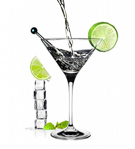 6 Verres à Cocktails / Barman Professionnels / 210 ml / Margarita - Martini - Pigna Colada