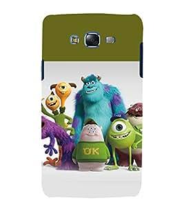 printtech Disneyy Monster Cartoon Back Case Cover for Samsung Galaxy J7 / Samsung Galaxy J7 J700F