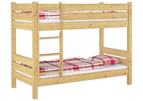 t80 m etagenbett f erwachsene teilbar 90x200 mit rollrosten u matratzen nische 80 cm. Black Bedroom Furniture Sets. Home Design Ideas