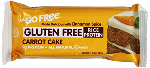 NuGo FREE Bar, Carrot Cake, 1.59-Ounce Bars (Pack of 12) (Nugo Bars Organic compare prices)