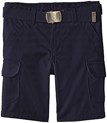 French Toast Little Boys' Belted Cargo Pocket Short, Navy, 6