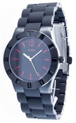 Guess W11602L1 - Reloj analógico de cuarzo para mujer, correa de acero inoxidable color negro