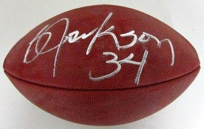 Signed Bo Jackson Football - Authentic Tri Star - Autographed Footballs