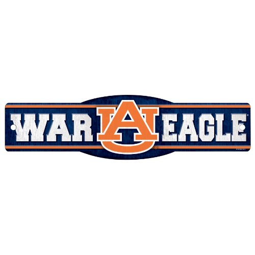 "NCAA Auburn Tigers ""War Eagle"" Sign, 4.5 x 17-Inch at Amazon.com"