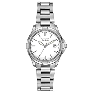 Citizen Women's EW1960-59A Silhouette Sport Analog Display Japanese Quartz Silver Watch